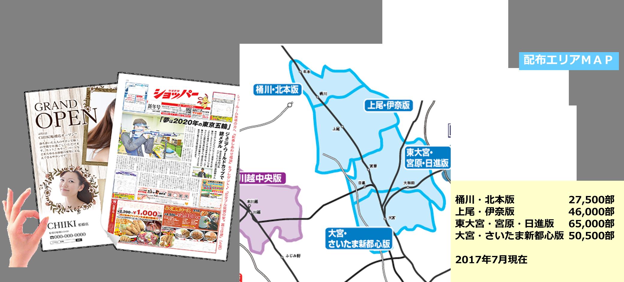 【埼玉県 ポスティングエリアMAP・部数一覧】