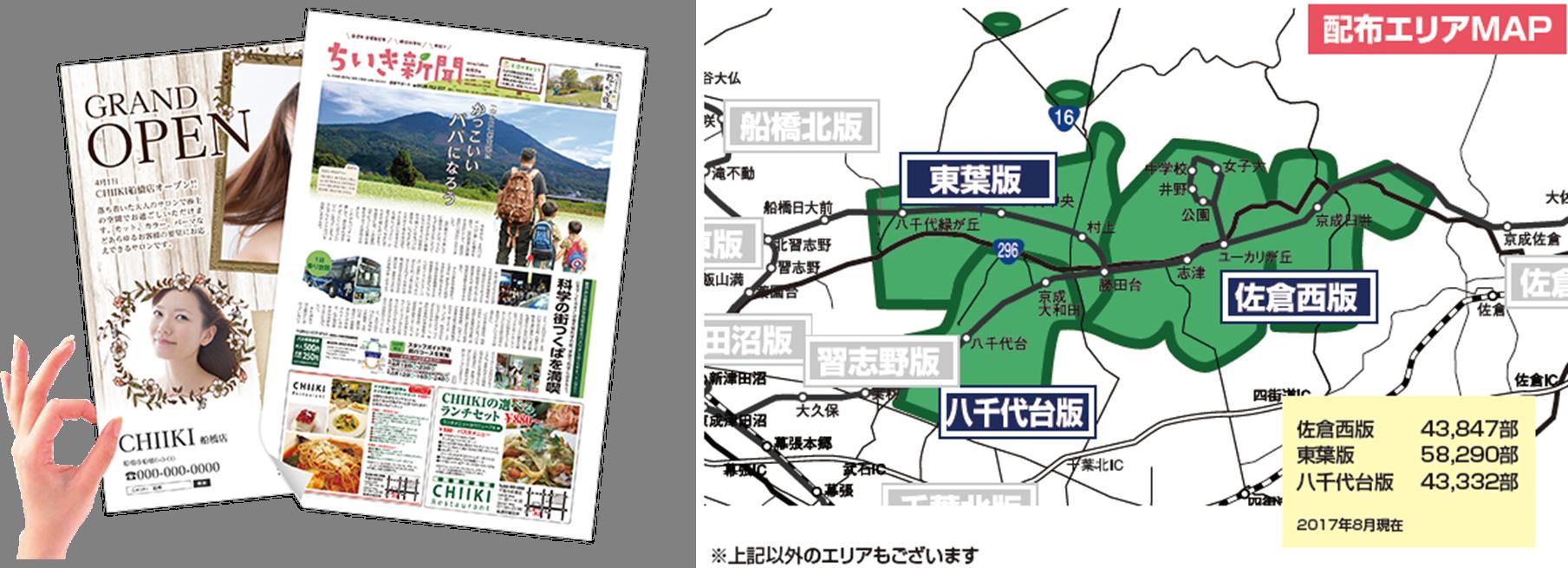 【習志野市 ポスティングエリアMAP・部数一覧】