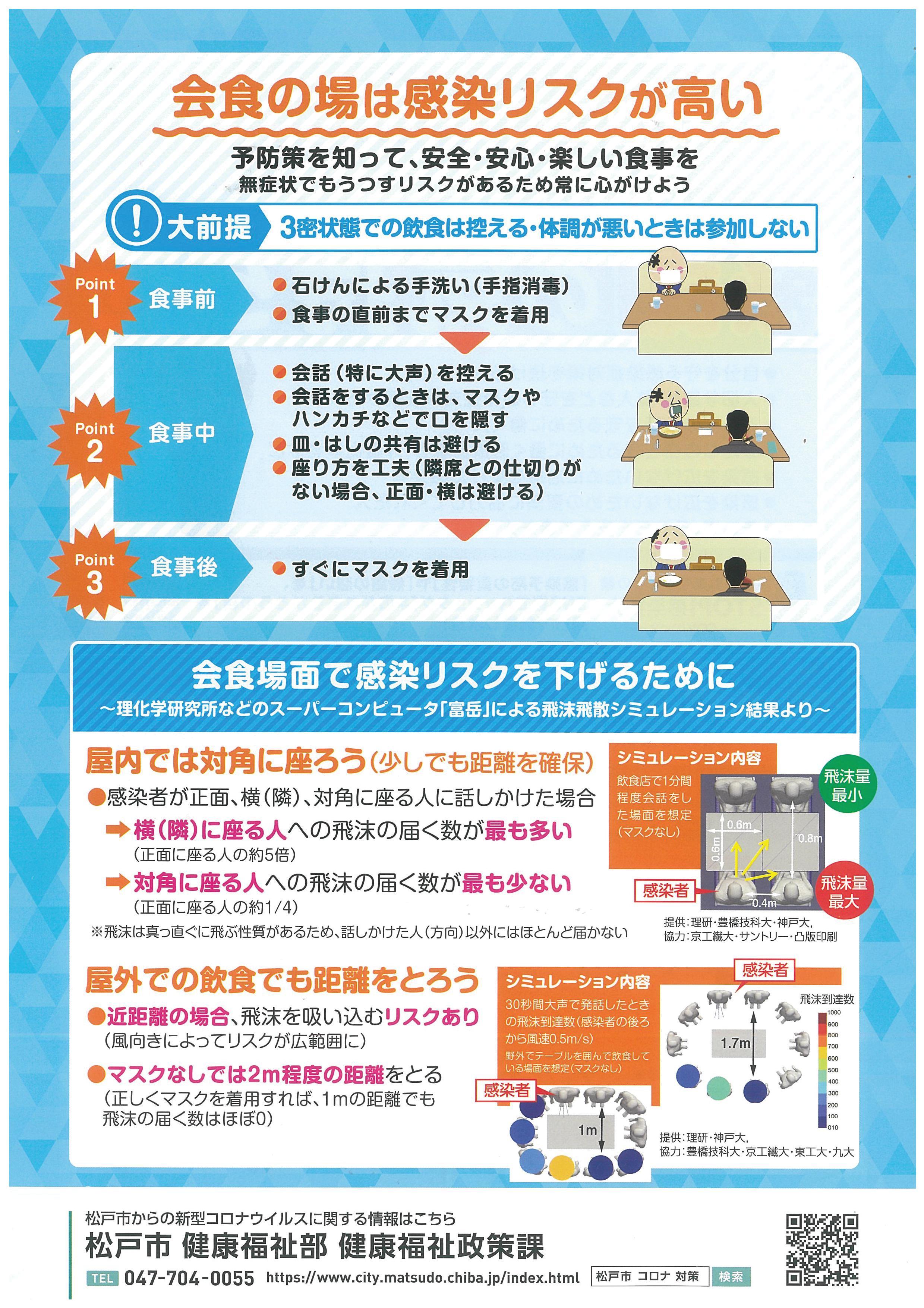 新型コロナウイルス感染予防啓発チラシ周知業務